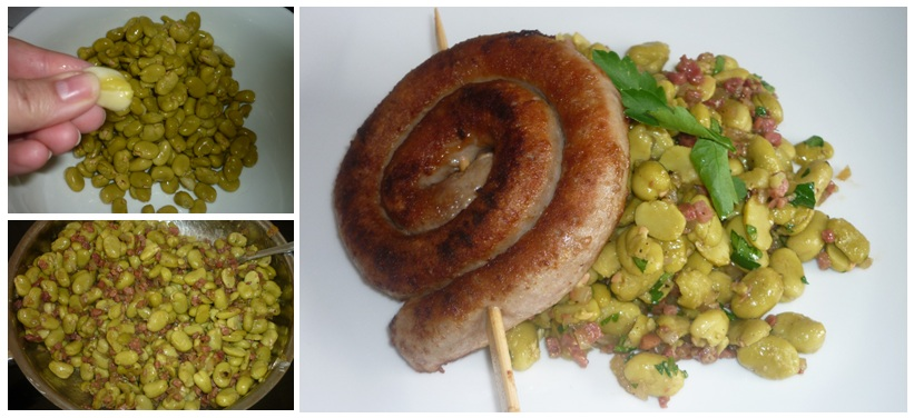 bratwurst dicke Bohnen