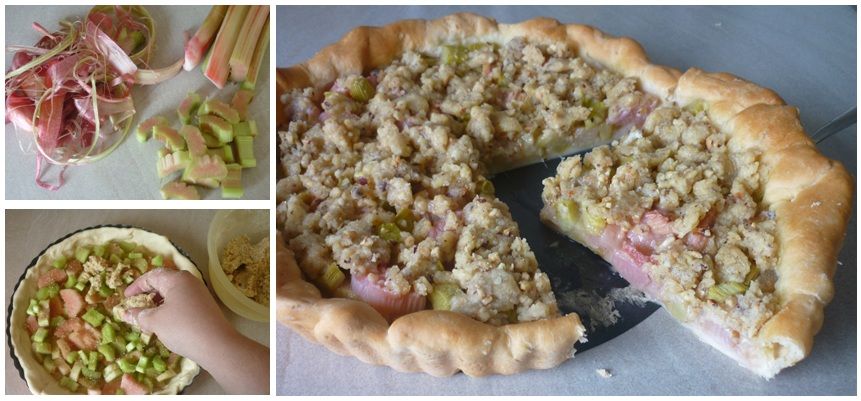 Making of Rhabarber-Streusel-Tarte