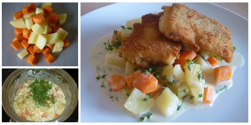 Fisch auf Rahmkartoffeln