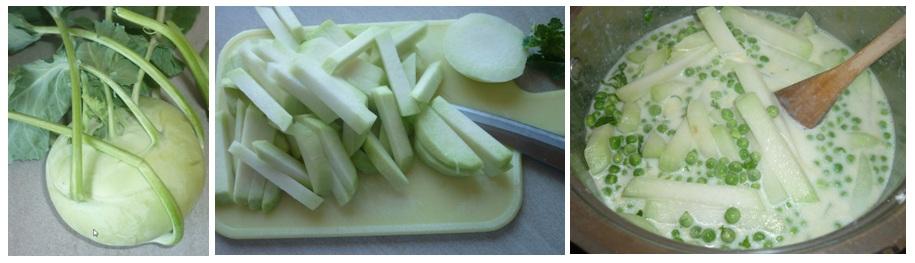 Kohlrabi Erbsen Gemüse2