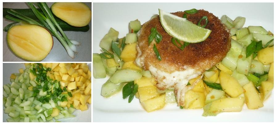 Gurken-Mango-Salat