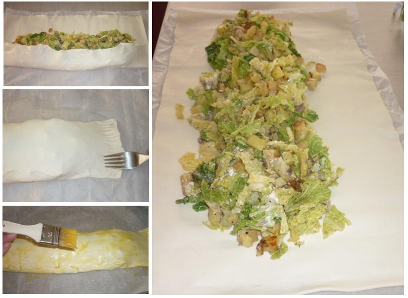 Wirsing Kartoffel Strudel
