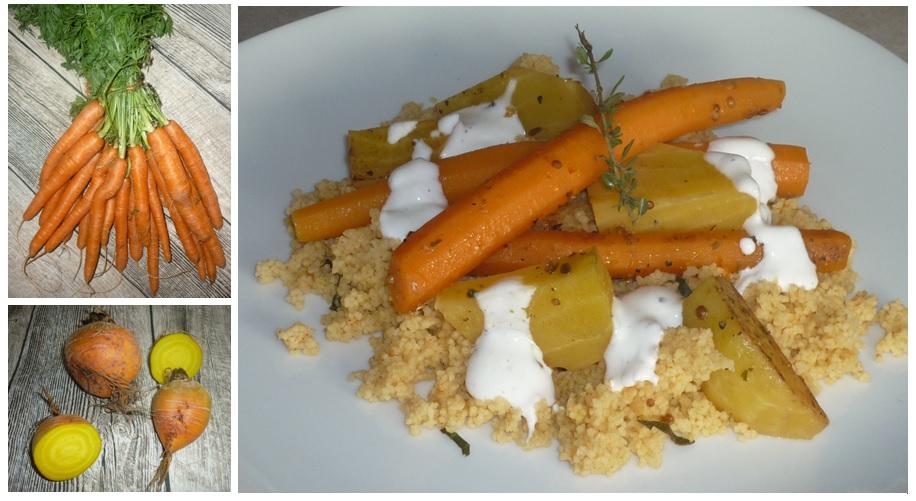 Gemüse und Couscous