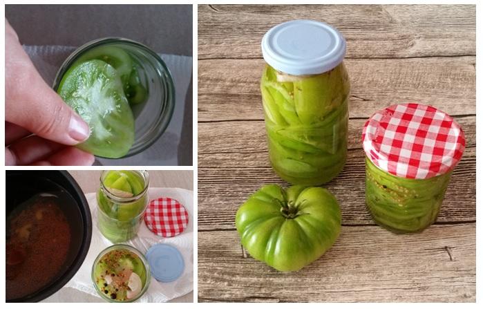 eingelegte grüne Tomaten