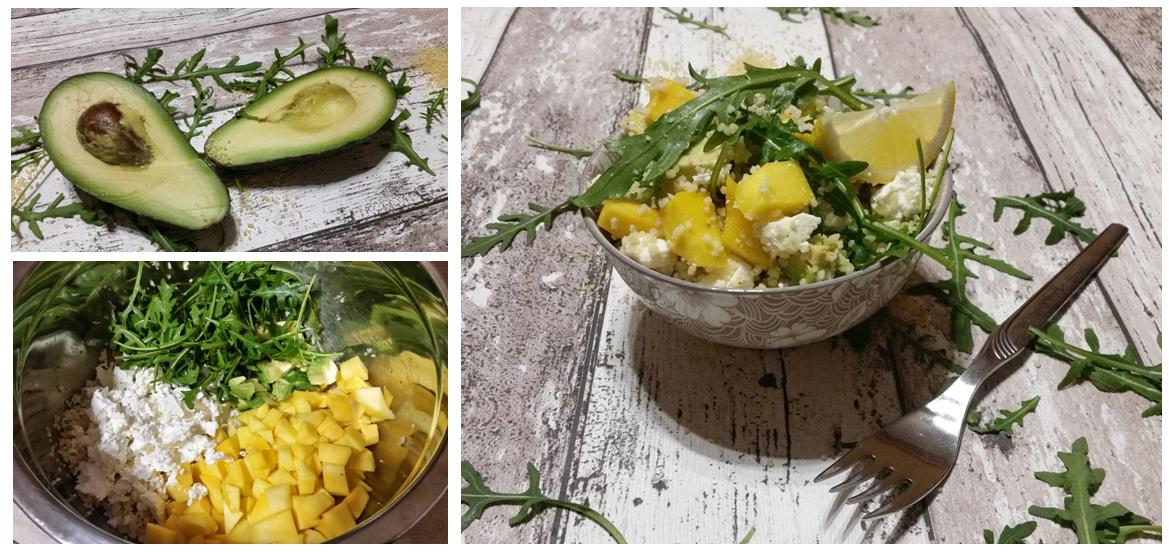 couscoussalat mit Mango und Avocado