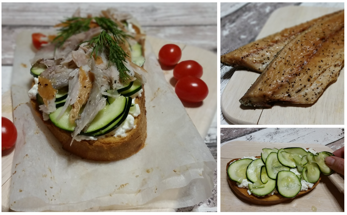 Brot mit geräucherter Makrele